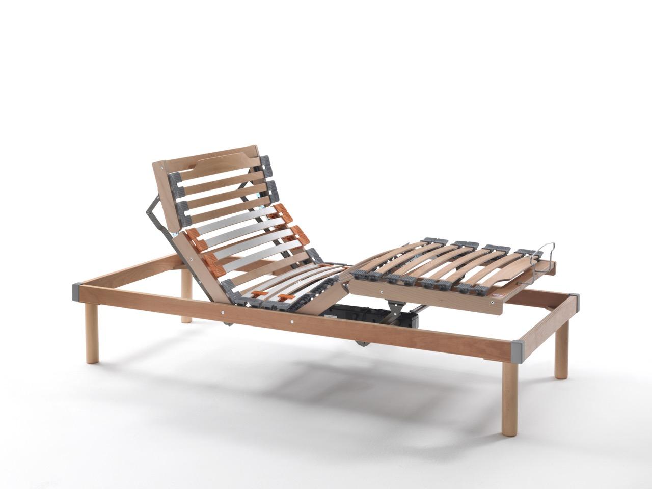 Reti da letto reti a doghe legno motorizzate reti ergonomiche reti snodabili materassi e - Reti da letto elettriche ...